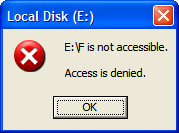 Folder is not accessible. Access is denied.