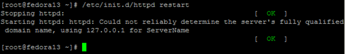Apache Error: can't determine ServerName.