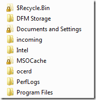 Document and Settings folder in Windows 7
