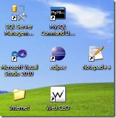 Windows Desktop Icons without a Background Image