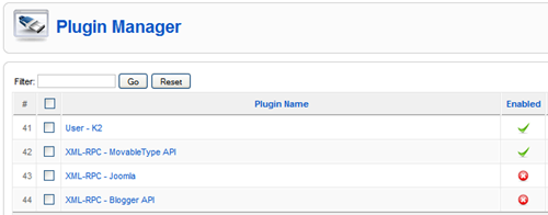 Enabling XML-RPC in Plugin Manager