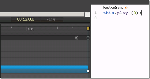 Adding a loop to an animated in Adobe Edge Animate.